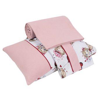 Jogo-de-Lencol-para-Berco-pink-girls-Baby-3-pecas-Lynel