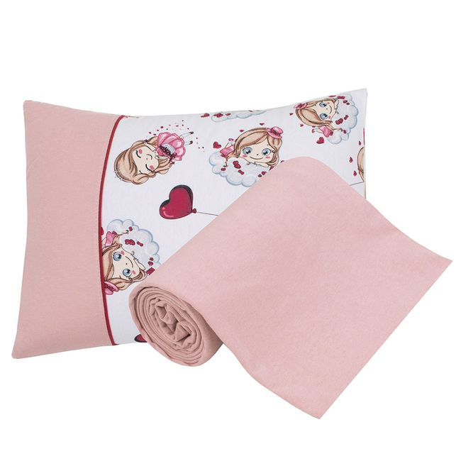 Jogo-de-Cama-para-Berco-pink-girls-Baby-2-Pecas-Lynel