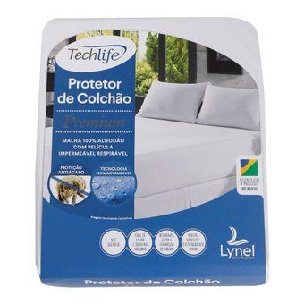 Protetor de Colchão Impermeável Solteiro Lynel Tech Life Premium 25cm Branco