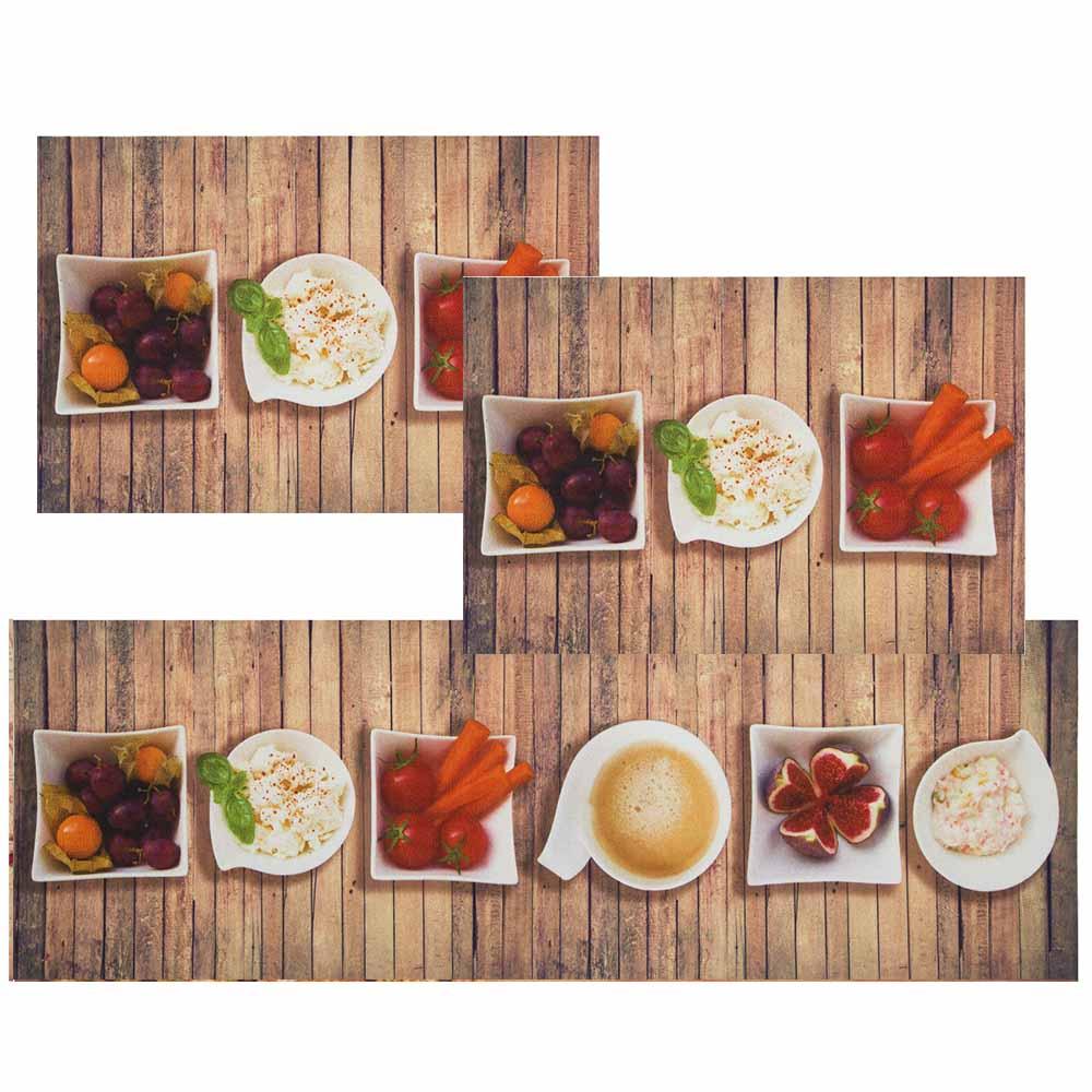 Jogo De Tapete De Cozinha Mangiare Pratos 3 Pe As Jolitex Shopcama