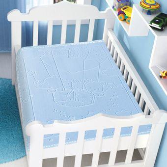 Cobertor-Bebe-Raschel-com-Relevo-balao-azul-Jolitex