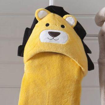 Manta-Baby-com-Capuz-leao-amarela-Jolitex