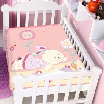 Cobertor-Bebe-Raschel-conversa-no-jardim-rosa-Jolitex