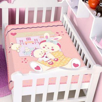 Cobertor-Bebe-Raschel-casa-e-boneca-rosa-Jolitex