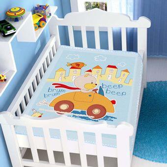 Cobertor-Bebe-Raschel-Passeio-Divertido-Azul-Jolitex