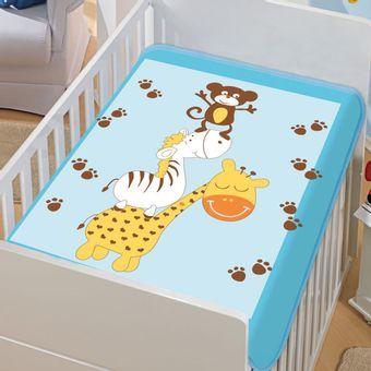 Cobertor-Bebe-Tradicional-bagunca-na-floresta-Azul-Jolitex