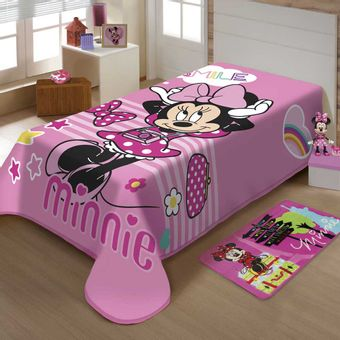 Cobertor-Infantil-Raschel-Minnie-Smile-Jolitex