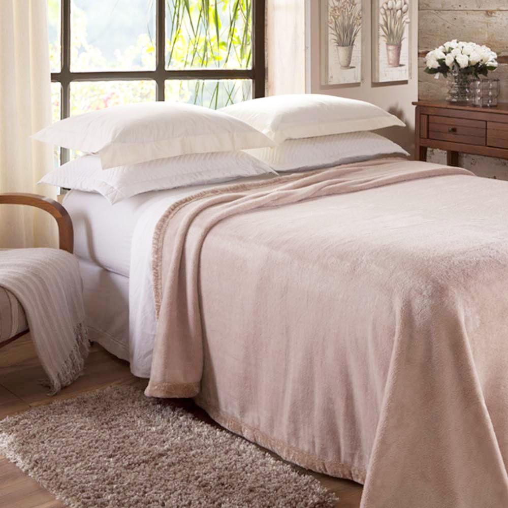 Cobertor Casal Raschel Unicolor Sublime Marfim - Jolitex - ShopCama a2cc08991884d