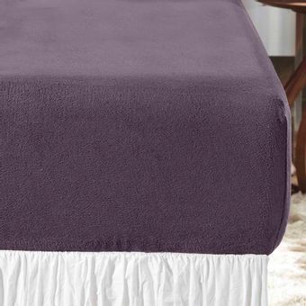 Lencol-Casal-Blend-Plush-roxo-bourbon-Altenburg