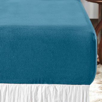 Lencol-Casal-Blend-Plush-azul-marmara-Altenburg