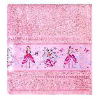 Toalha-Banho-Infantil-Karsten-Princesa-Rosa
