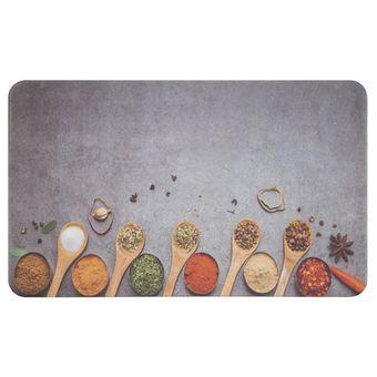 Tapete de Cozinha 46 x 76cm Antifadiga Especiarias - Jolitex