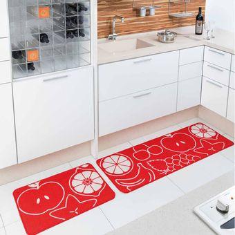 Jogo-de-Tapete-de-Cozinha-Cook-frutas-vermelho-2-Pecas-Jolitex