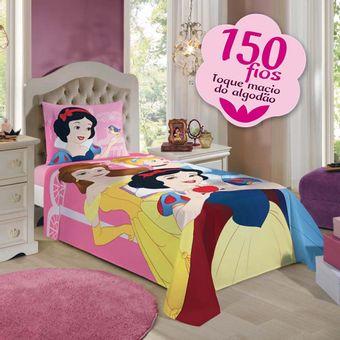 Jogo-de-Cama-Infantil-Princesas-150-Fios-3-Pecas-Lepper