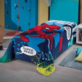 Manta-Infantil-Fleece-spider-man-Lepper