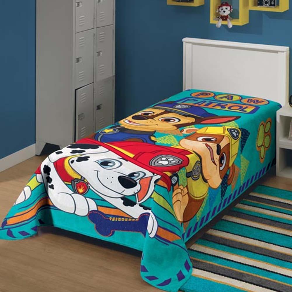 f026a1d19b Cobertor Infantil Plush Patrulha Canina Lepper