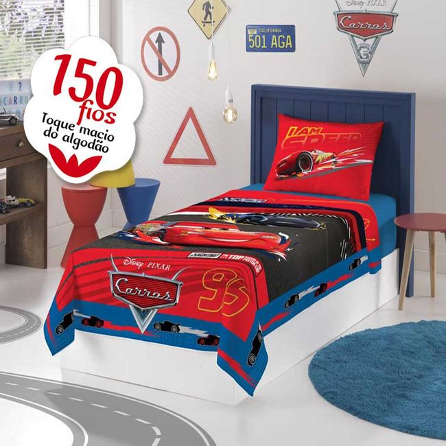 Jogo-de-Cama-Infantil-Carros-150-Fios-3-Pecas-Lepper