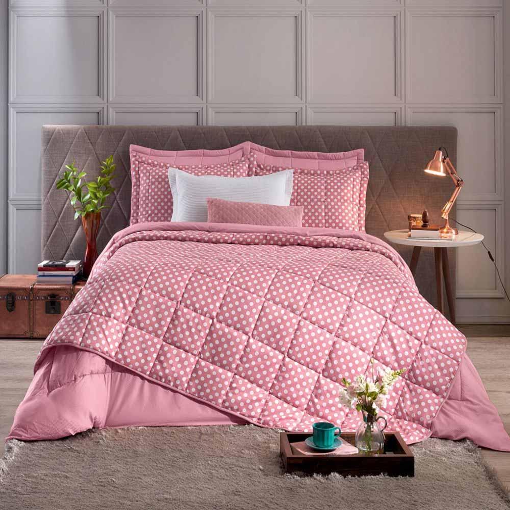 2db4bdd153 Colcha e Porta Travesseiros Queen Hedrons Romance - ShopCama