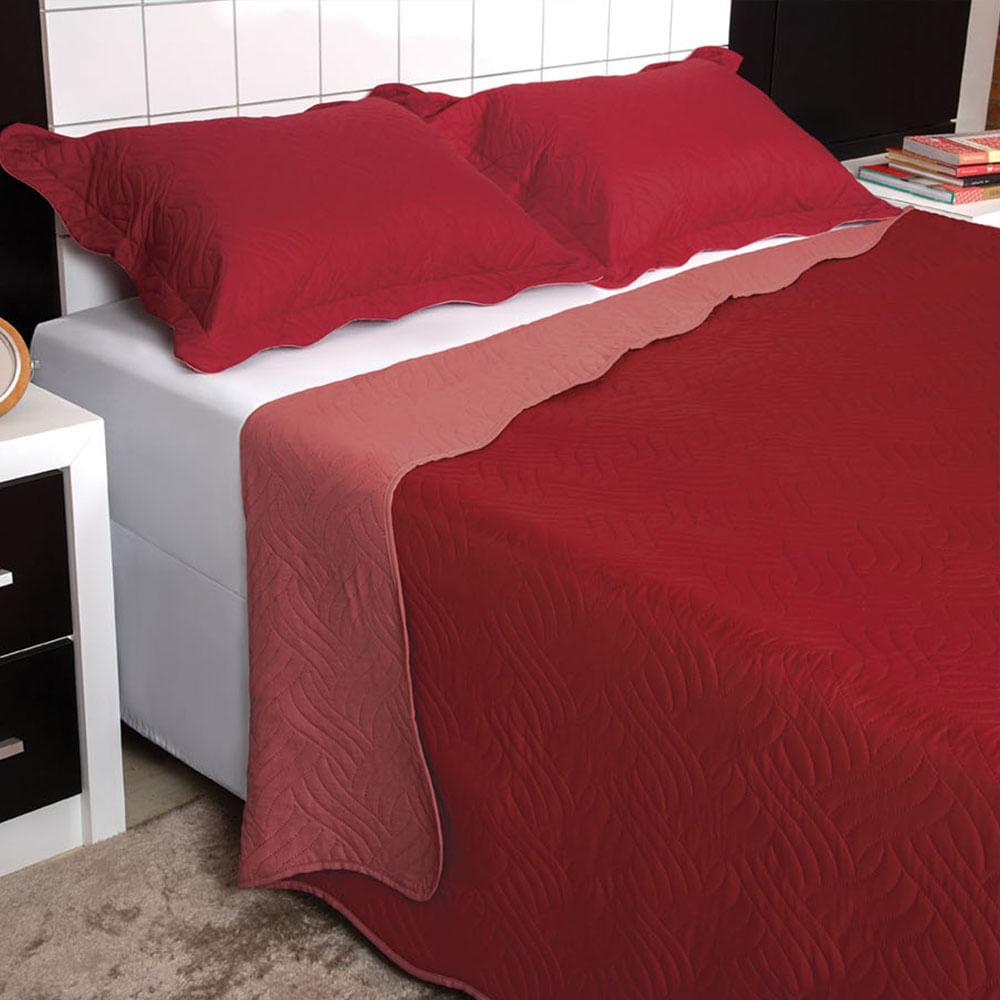 6753b5268e Colcha Cobre leito Queen Vermelho - Lepper - ShopCama