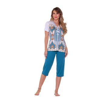 pijama-feminino-capri-Verde-senilha-P