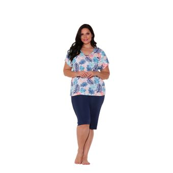 pijama-feminino-capri-liganete-microfibra-Marinho-senilha-6019-G