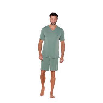 pijama-masculino-shorts-microfibra-liganete-verde-senilha-6035-G