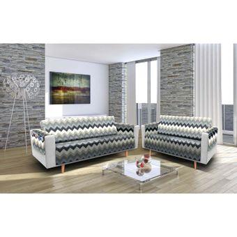 Protetor-de-Sofa-3-e-2-lugares-Elegance--Etnico-Cinza---Izaltex