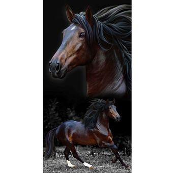 Toalha-de-Praia-Aveludada-Bouton-brown-horses