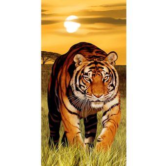 Toalha-de-Praia-Aveludada-Bouton-tiger-at-sun