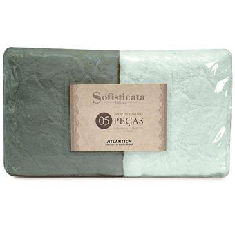 jogo-de-toalha-de-banho-atlantica-5-pecas-verde-claro-verde-escuro-1204-1250