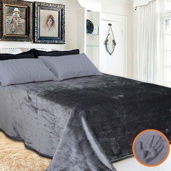 Cobertor-Toque-de-luxo-Europa-Cinza-escuro