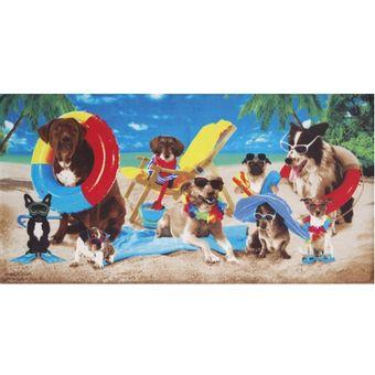 Toalha-de-Praia-Dohler-Dogs-At-The-Beach