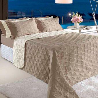 Colcha-Cobreleito-Queen-Size-Bege-BBC-Textil-Ambientada-ShopCama