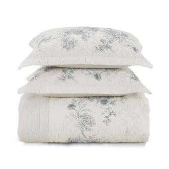 Colcha-Casal-Karsten-180-Fios-Livia-com-Porta-Travesseiros-ShopCama