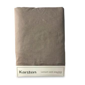 Lencol-Avulso-King-Size-Karsten-180-Fios-Marrom-