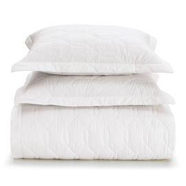 Colcha-Queen-Size-Karsten-Branca-180-Fios-Liss-com-porta-travesseiros
