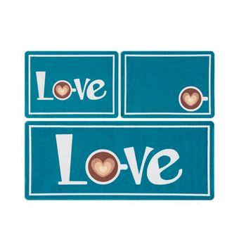 Jogo-de-Tapetes-para-Cozinha-3-Pecas-Gourmet-Love-Azul
