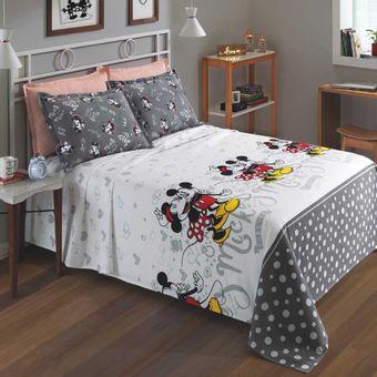Colcha-Casal-Mickey-e-Minnie-Piquet-Dohler-Ambientada-ShopCama