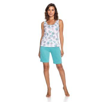 Pijama-Feminino-Shorts-e-Regata-Senilha-Verde-6275-Tamanho-P