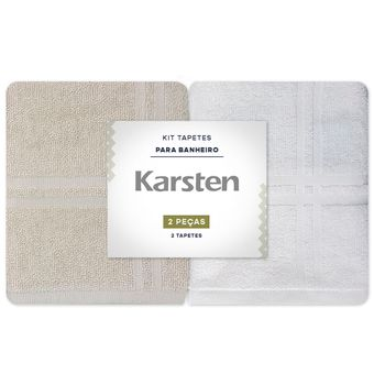Toalha-para-pes-Karsten-Kit-2-Pecas-Branco-e-Bege-Metropole