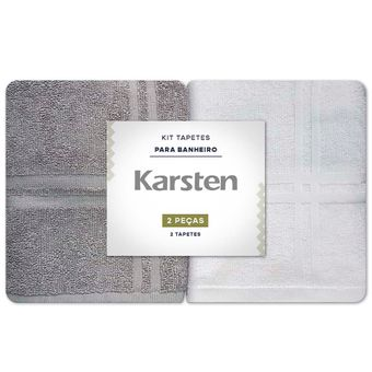 Toalha-para-pes-Karsten-Kit-2-Pecas-Branco-e-Cinza-Metropole