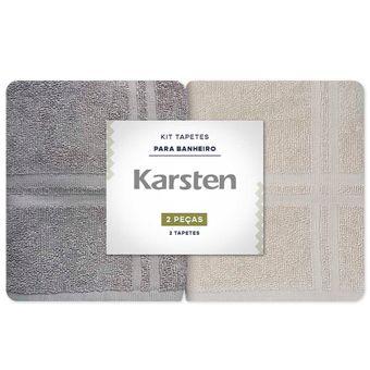 Toalha-para-pes-Karsten-Kit-2-Pecas-Bege-e-Cinza-Metropole