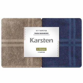 Toalha-para-pes-Karsten-Kit-2-Pecas-Marinho-e-Marrom-Metropole