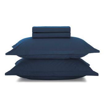 Jogo-de-Cama-Karsten-180-Fios-Queen-Size-4-Pecas-Azul-Marinho