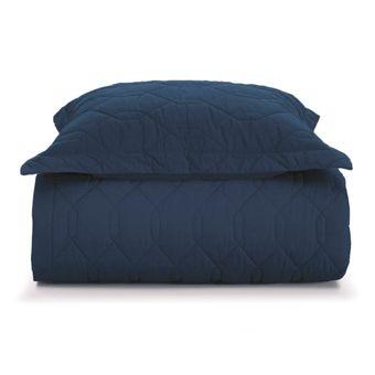 Colcha-Solteiro-Karsten-Azul-Marinho-com-Porta-Travesseiro-ShopCama