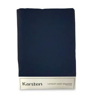 Lencol-Avulso-Solteiro-King-Karsten-180-Fios-Azul-Marinho-