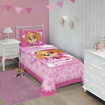 Edredom-Infantil-Patrulha-Canina-Meninas-Lepper-Ambientada