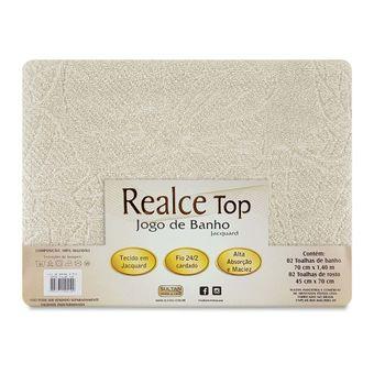 Jogo-de-Toalhas-de-Banho-Bege-Sultan-4-Pecas-Realce-Top-Embalagem-ShopCama