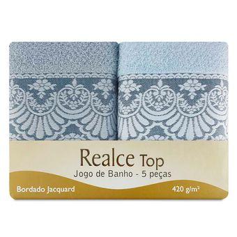 Jogo-de-Toalhas-e-Banho-5-Pecas-Sultan-Verde-