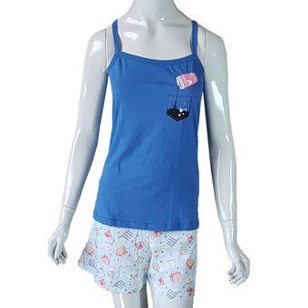 Pijama-Feminino-Shorts-e-Regata-com-Alcas-Havai-Pzama-GG-ShopCama